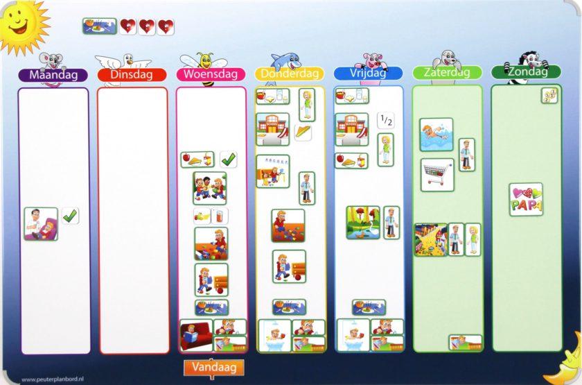 Voorbeeld kinderplanbord