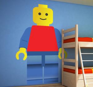 What's on mama's mind - Legoman TenStickers.nl