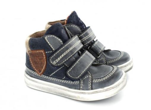 What's on mama's mind wintercollectie 2015 klittenband blauw Shoesme