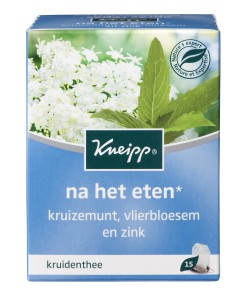 What's on mama's mind Kneipp na het eten thee