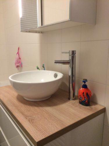 Badkamer met waskom
