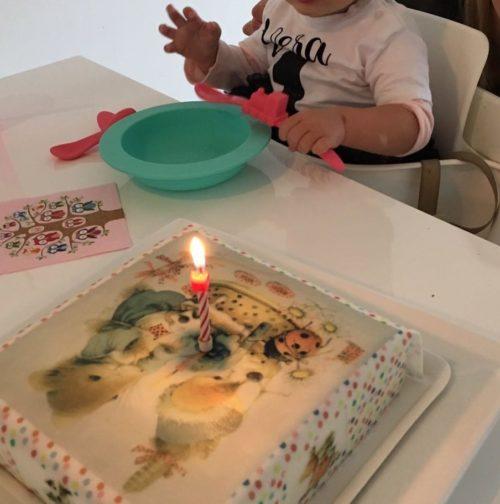 verjaardagstaart Vera de muis, 1 jaar