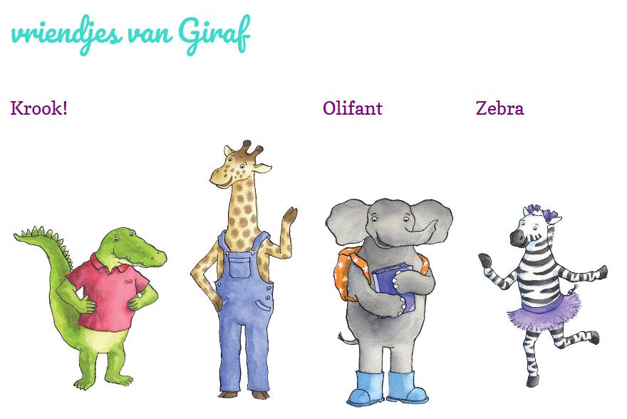 What's on mama's mind giraf en vriendjes