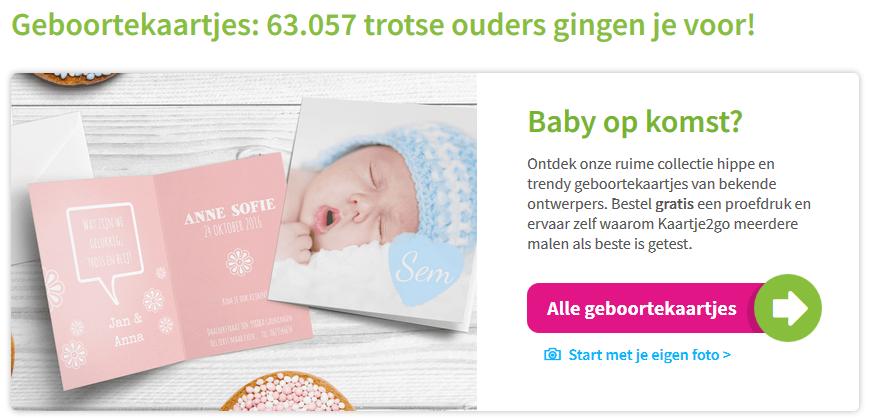 geboortekaartjes kaartje2go