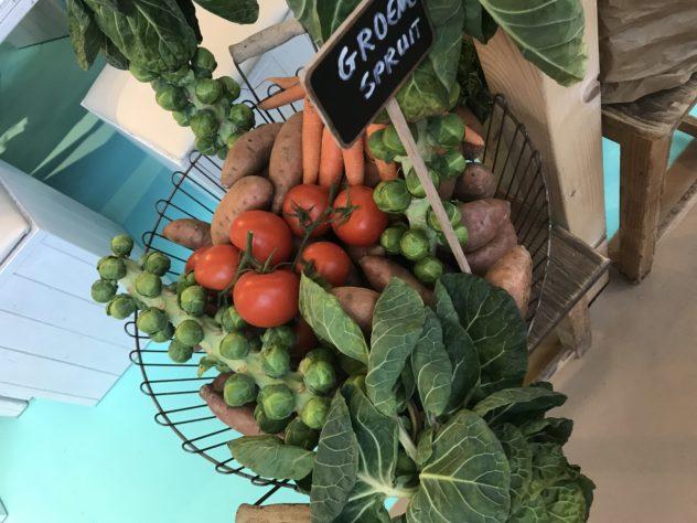 groente op het groente en fruitplein