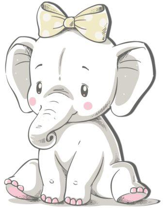 Geboortebord van kraambord.nl van olifant