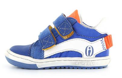 Shoesme kobaltblauwe eerste loopschoen met klittenbandsluiting