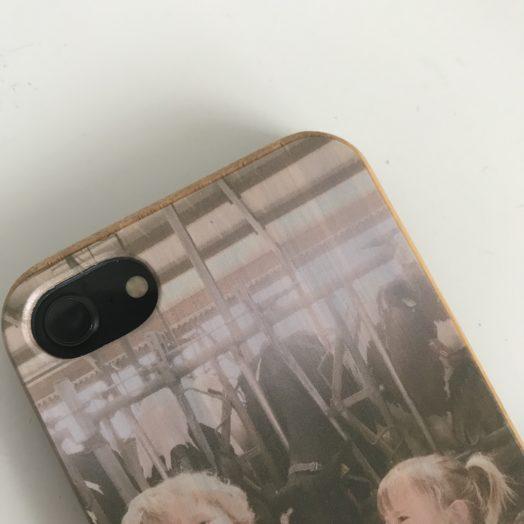 telefoonhoesje van hout