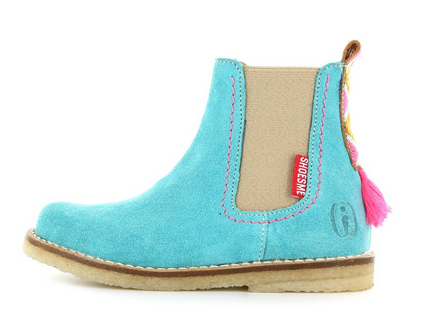 Shoesme turquoise suède chelseaboot