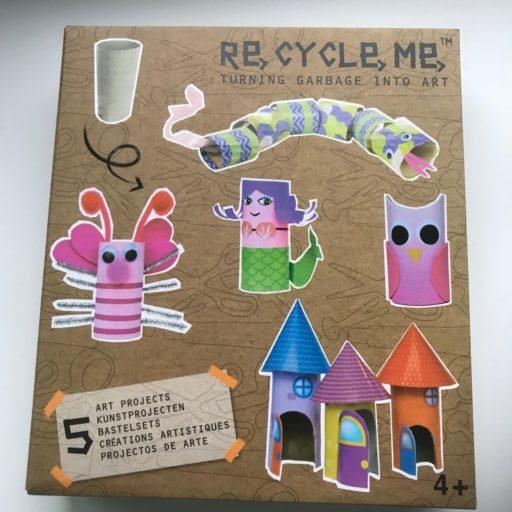 Recycle me knutselen met afval