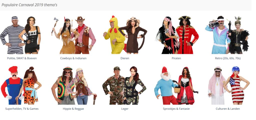 Populaire Carnavalskostuums voor 2019
