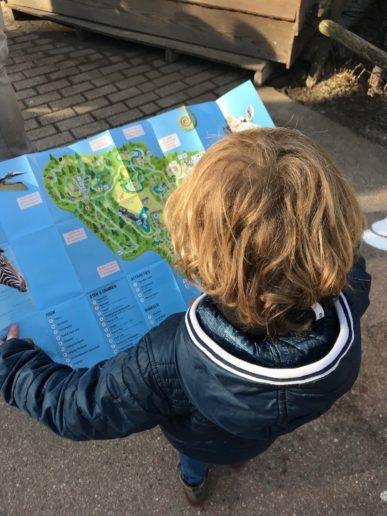 Dierenpark Amersfoort Poep & Zoo kaart van het park