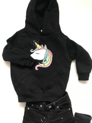 tshirtpolosbedrukken hoodie met unicorn