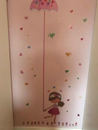 Wallsticker height chart meetlint muursticker