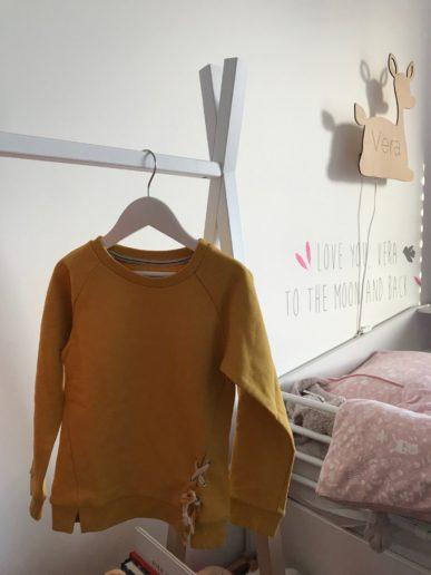 Little Label sweaterdress geel