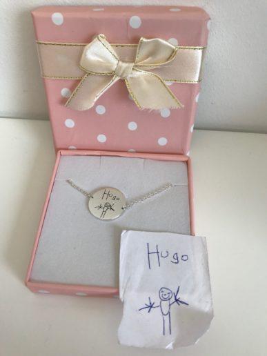 Kaya sieraden moederdagcadeau een armbandje met tekening en handschrift van zoontje