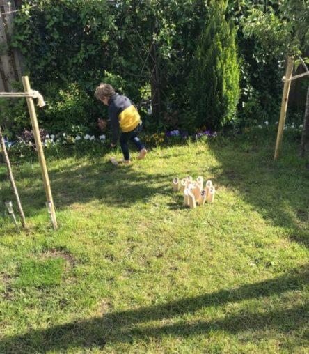 Tactic Molkky buitenspeelgoed van hout