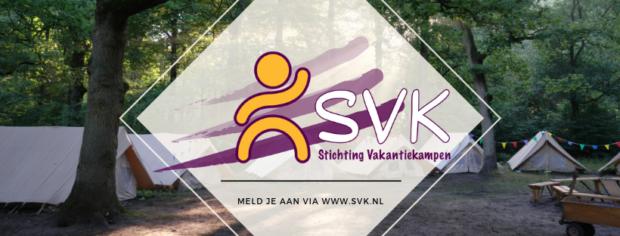 Stichting vakantiekampen logo en banner SVK
