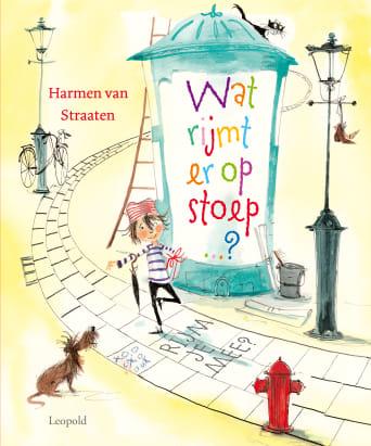 Kinderboek wat rijmt er op stoep