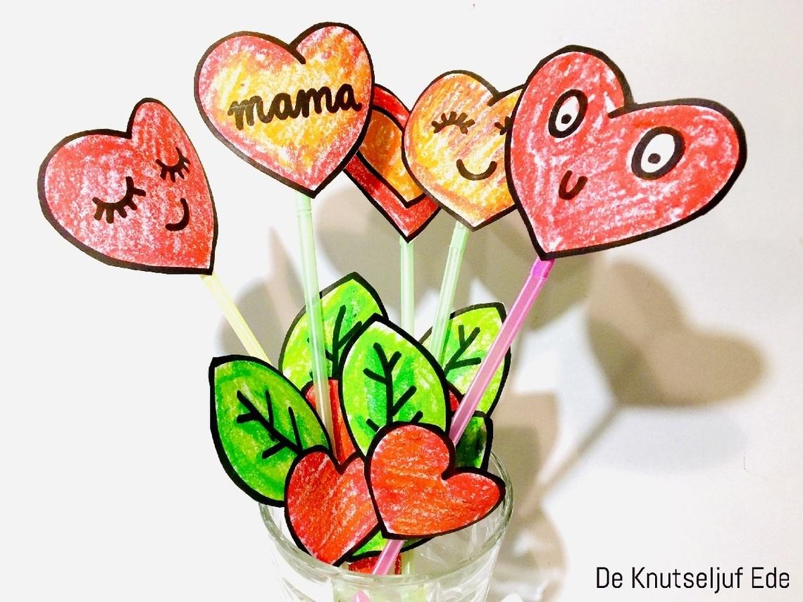 De knutseljuf ede moederdag hartjesbloem