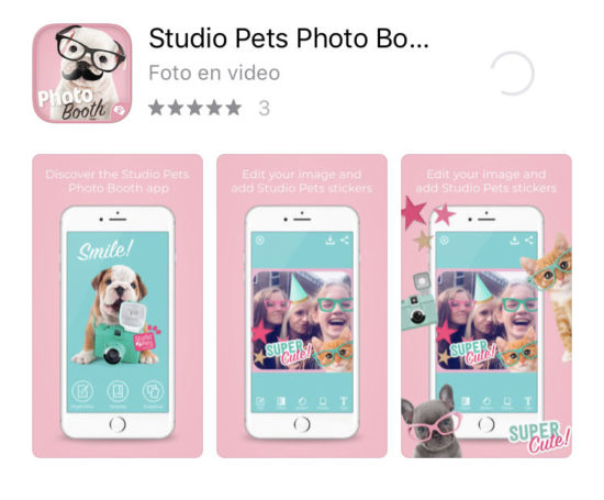Studio Pets photoboot app