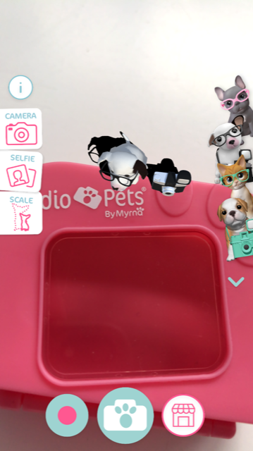Studio pets augmented reality app