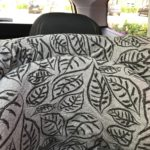 Dooky car seat cover grey leaves