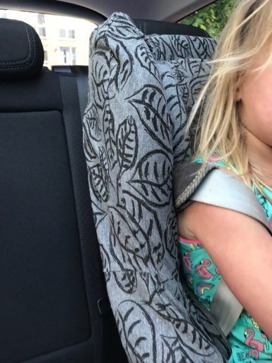Dooky car seat cover grey leaves Maxi Cosi Toby