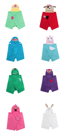 Zoocchini Kids Badcapes