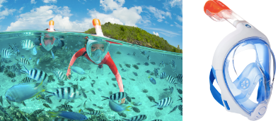 snorkelmasker easybreath decathlon