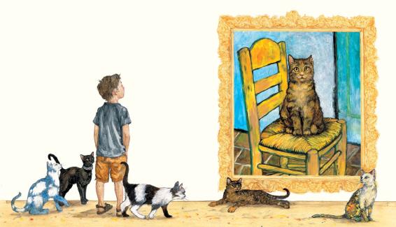 kunst met katten