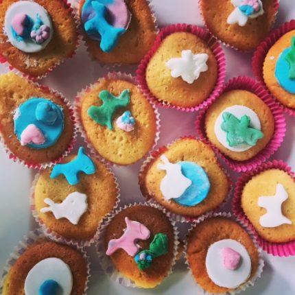 cupcake met versiering