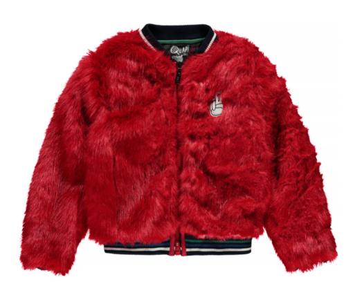 Winterjas nepbont Quapi rood meisjes