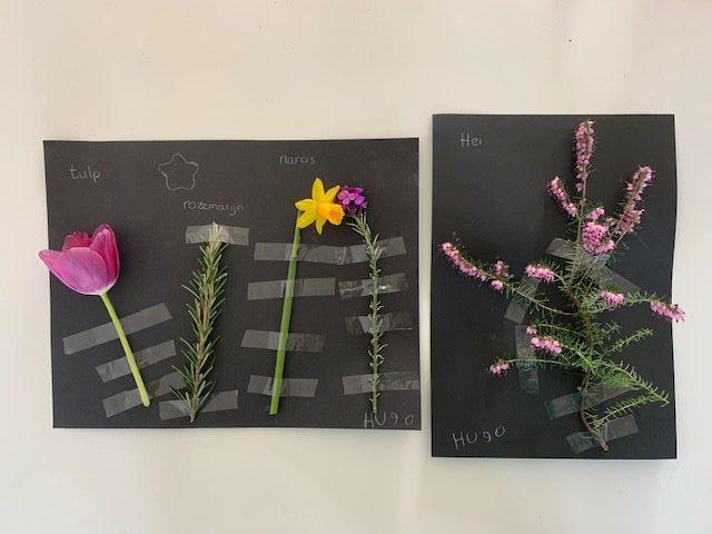 Lente knutselwerk met bloemen