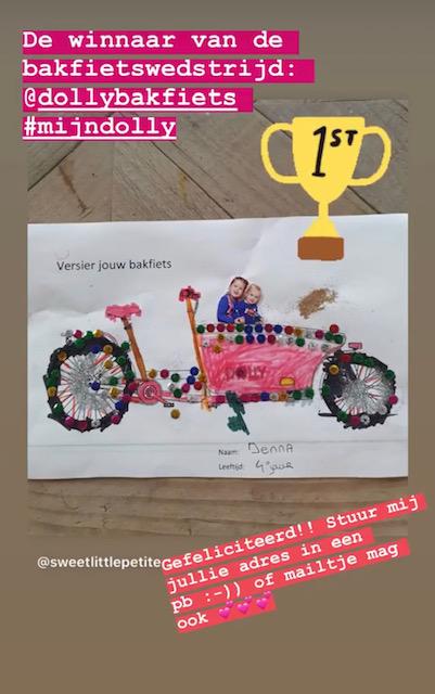 kleurwedstrijd winnaar dolly bakfiets
