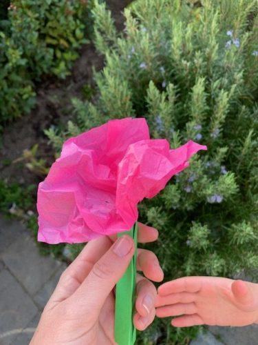 Bosje bloemen knutselen