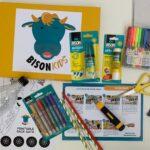 inhoud knutselpakket bison kids