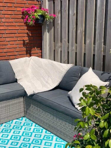 Loungeset met plaid knitfactory