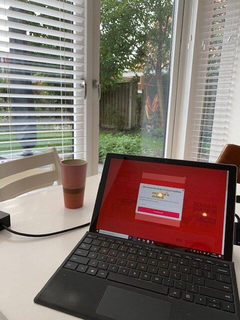 Laptop koffie