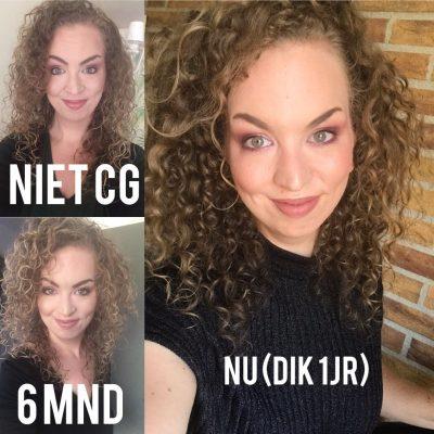 Voor en na curly girl methode