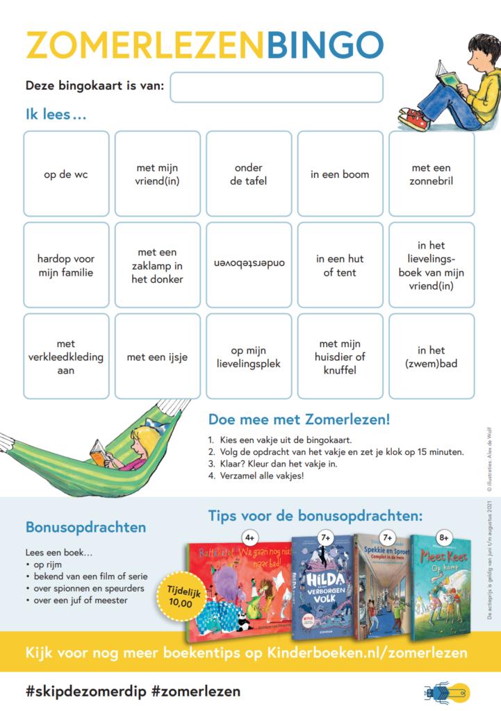 zomerlezen bingo